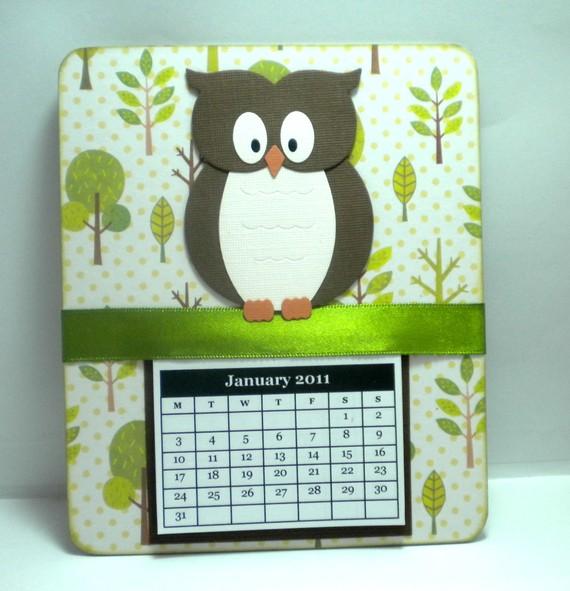Handmade Calendar With Photos : Handmade calendar with