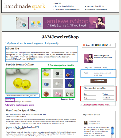 JAMJewelryShop on Handmade Spark - Anatomy of a Great Etsy Shop